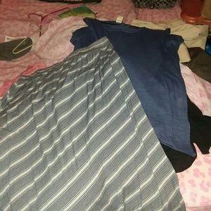 Faded glory skirt and shirt set